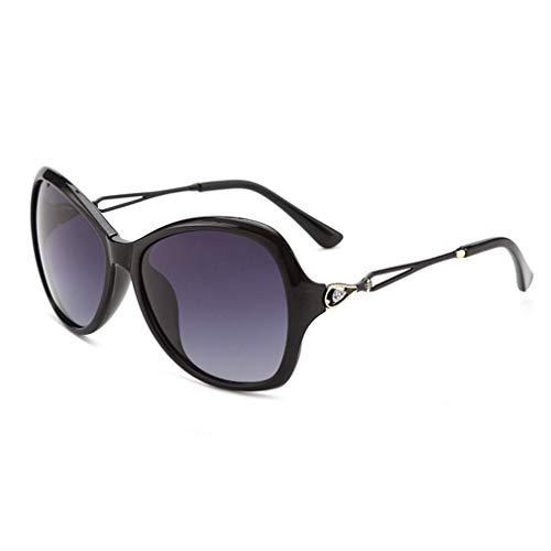 WSDSX Gafas de sol cuadradas vintage, ojo de gato, para mujer, montura metálica, lente transparente, protección UV400, anti-rayos azules, para conducir y al aire libre, negro