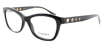 Versace VE3225 Eyeglass Frames GB1-54 - 54mm Lens Diameter Black VE3225-GB1-54