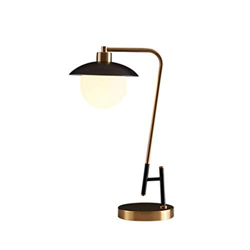 XYX Lámpara de Escritorio Lámpara de Mesa Sencilla Retro Dormitorio LED mesita de Noche Personalidad Creativa Lectura lámpara de Mesa Lámpara de Mesa (Color : Brass)