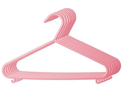 Bieco - Perchas de plástico para ropa de bebé, varios colores, 8 16, 32 unidades, para armario, longitud 29,5 cm rosa altrosa Talla:8 Stück