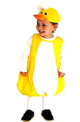 Costume Pulcino - Colore Giallo - Travestimenti per bambini - Carnevale - Halloween Animale - Unisex - Taglia M - 3-5 anni - Idea regalo originale