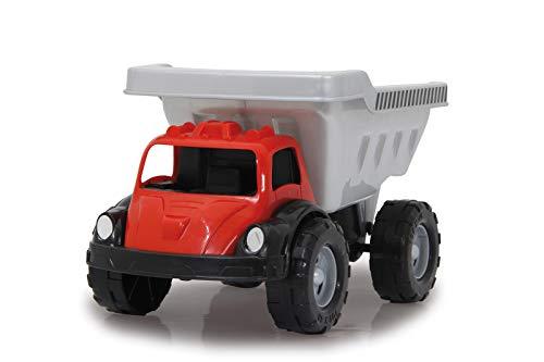 Jamara 460311 460311 Zandbakauto Big Kip zilver/zwart/rood – ca. 20 kg laadvermogen, laadvlak kantelbaar, koplampattrappen.