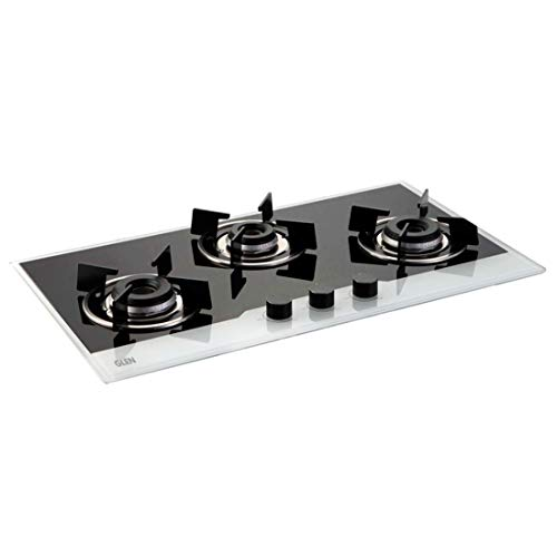 Glen 1073 IN BW Built In Hob 3 Burner - Integrated Auto Electric Ignition