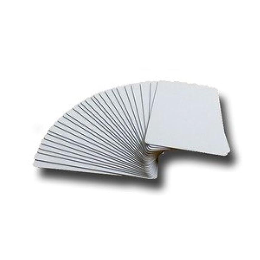 自由泥だらけトレース無地プラスチックカード/オフィス用品 【100枚セット 厚さ0.5mm】 薄め クレジットカードサイズ 材質:PVC 日本製