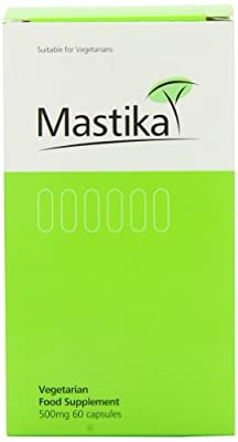 Mastika 500mg Mastic Gum - Pack of 60 Vegetarian Capsules