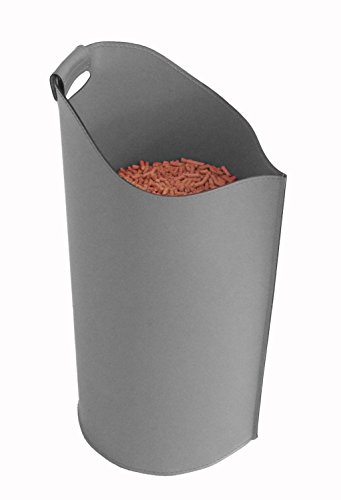 SAPEL: Porte pellet, granulés, en cuir couleur Anthracite.