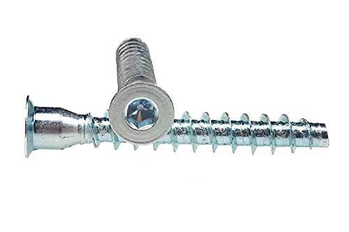 50 X Mprofi MT® Möbelschraube Möbelschrauben Möbel Schraube Inbus 7x50 Stahl verzinkt S0250