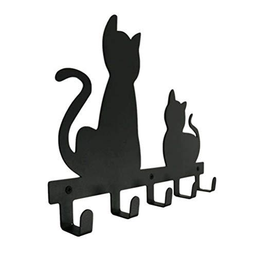 DOITOOL Perchero de pared con forma de gato con dibujos...