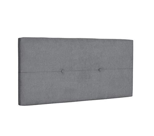 DHOME Cabecero de Polipiel o Tela AQUALINE Pro cabeceros Cabezal tapizado Cama Lujo (Tela Gris, 110cm (Camas 80/90/105))