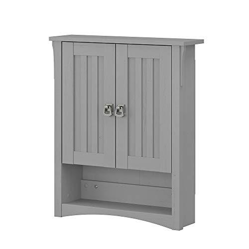 Bush Furniture Salinas Bathroom Wall Cabinet with Doors, Cape Cod Gray