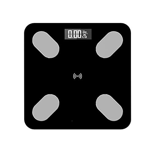 Mdsfe Bluetooth Körperfettwaage BMI-Waage Intelligente elektronische Waage LED Digitales Badezimmer Gewichtswaage Balance Body Composition Analyzer - a2, weiß