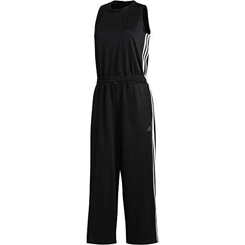 adidas Damen W Snap Romper Tracksuit, Black/White, XS