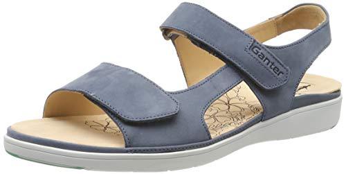 Ganter GINA-G Offene Sandalen Damen, Blau (Jeans), 41 EU