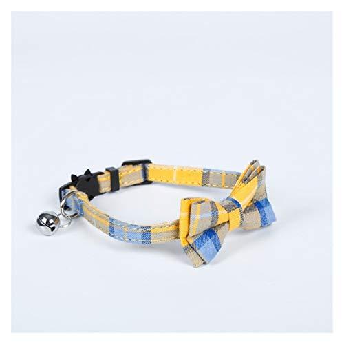 EKYJ Modische bunte Katzenhalsbänder mit niedlicher Schleife, gestreifte Halskette, verstellbar,...