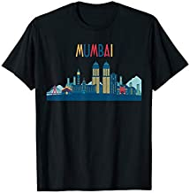 Mumbai Skyline Silhouette T-Shirt   Beautiful India Gift