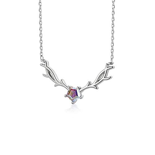 YAZHUANG8 Collar Femenino Verano Sterling Silver Niche Diseño Diseño Clavícula Cadena Luz de Lujo Cumpleaños Regalo para Novia (Color : C)
