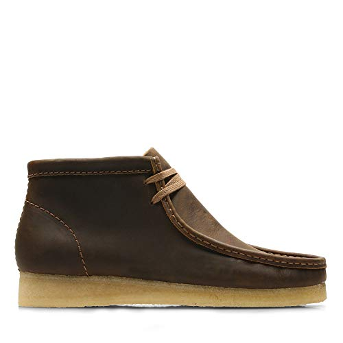 Clarks Originals Herren Wallabee Chukka Boots, Braun (Beeswax Leather), 44 EU