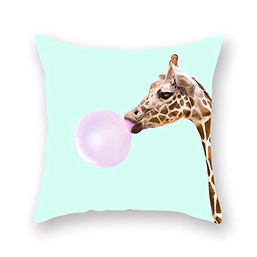 ouyalis Cushion Covers Cartoon Animal Series Polyester Pillow Cover Sofa Cushion Home Decorative Pillows Cover-450mm*450mm_D01