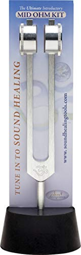 Ohm Therapeutics MID OHM Tuning Fork KIT for Self-Care and Sound Therapy (136.1 Hz + Activator)