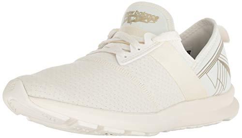 New Balance Women's FuelCore Nergize V1 Sneaker, Sea Salt/Metallic Gold, 12 M US