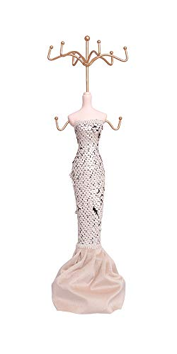 Alice's Collection - Organizador de joyas, collares, pendientes, anillos, tocador, mesa, soporte de maniquí, expositor de joyas, colgador decorativo para tus joyas