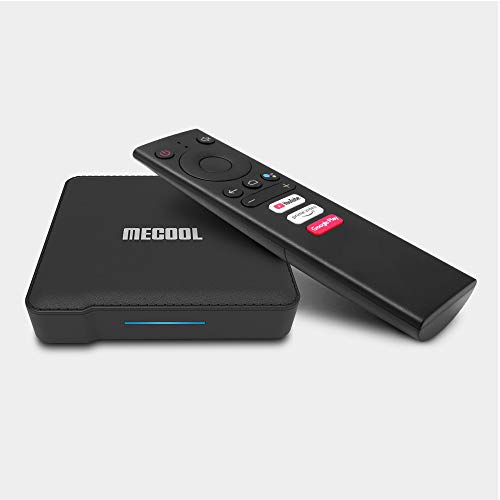Mecool KM1 4GB 64GB Android 9.0 TV Box Google Certified 2T2R WiFi Amlogic S905X3 Smart Android tv 4K Media Player Prime Video 4K + with Wireless Keyboard i8