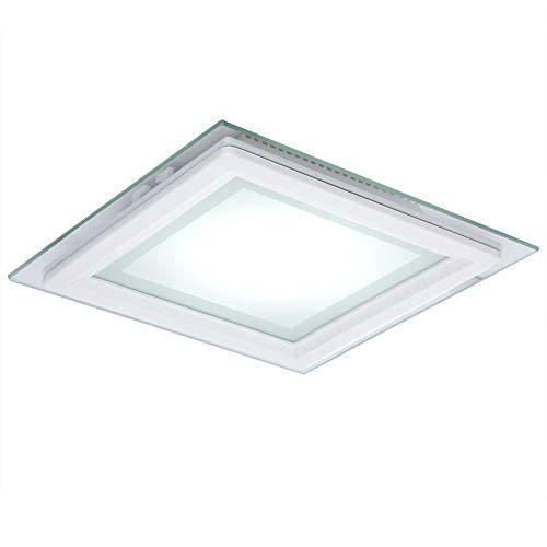 Greenice | Foco Downlight LED Cuadrado con Cristal 200X200Mm 15W 1150Lm 30.000H | Blanco Natural