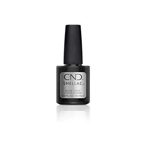 CND Shellac Gel Nail Polish Base Coat, First Step Adhesive Layer for Longwear NailPaints with No Nail Damage, 0.42 fl oz