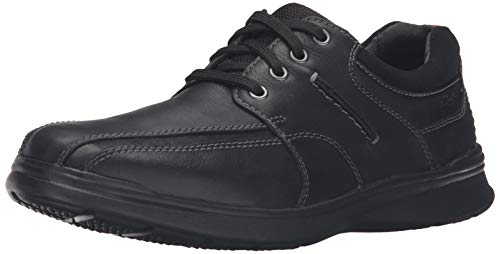 Clarks Men's Cotrell Walk Oxford, Black Oily Leather, 9 W US