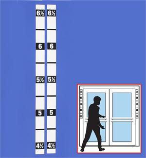 HM-101B Height Marker Door Strip (Set of 2)