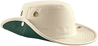 Tilley Endurables T3 Traditional Canvas Hat,Natural/Green,7.5 by Tilley