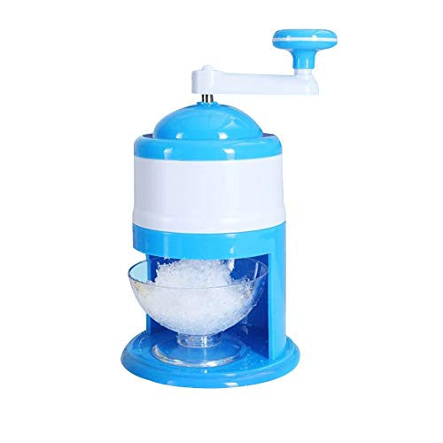 Eihan Household Manual Ice Crusher Hand Crank Ice Shaver for Snow Cone Slushies Ice Cream Tool