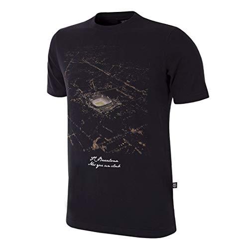 Copa Camiseta de Cuello Redondo del FC Barcelona by Night para Hombre,...