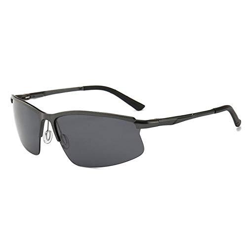 GFLD Sonnenbrille Herren Polarisierte Halbrahmen-Brille aus Aluminium-Magnesium-Legierung
