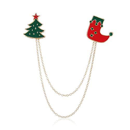 DC CLOUD Spilla Natale Spille Vintage Spilla di Babbo Natale Spilla d'Epoca Spilla Smaltata Spilla con Ciondolo Spilla di Stivali di Natale Spille con Badge b
