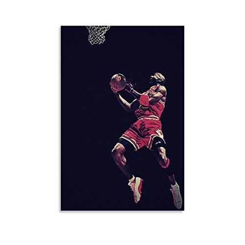 YANGBD NBA - Póster decorativo de baloncesto (40 x 60 cm)