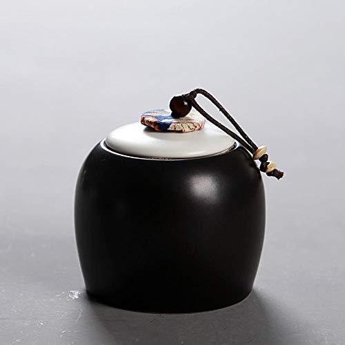 Opslag Potten luchtdicht Nieuwe Witte Zwarte Tin Matte Thee Opbergdoos Chinese Stijl Keramische Thee Suiker Gedroogd Fruit Zout Organizer Container Fles Potten Yaguanghei