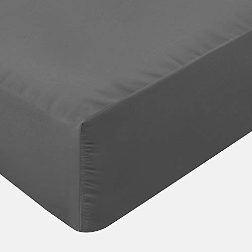 Ploopy Non-Iron Plain Brushed Fitted Sheet Double Size - 25cm Deep Ultra Soft Hypoallergenic Microfiber - Breathable Wrinkle Resistance