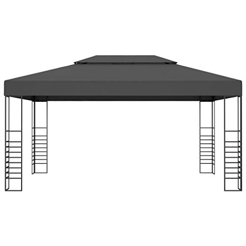 Festnight Garden Gazebo Marquee, Patio Sunshade Shelter, Gatherings, Weddings, BBQ Parties, Camping 3x4 m Anthracite