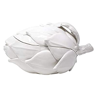 Vietri Artichokes White Figural Artichoke Tureen - Handcrafted Italian Tableware