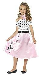 """Ofertas Tienda de maquillaje: Incluye Disfraz falda vuelo años 50, rosa, con vestido, gargantilla y cinturón Edad 4-6, cintura 215-225"""" / tórax 23-25"""" / altura 46-51"""" Todos los trajes para niños son probados para EN71 y Nightwear (seguridad) estándares Esto es para assegurar comp..."""