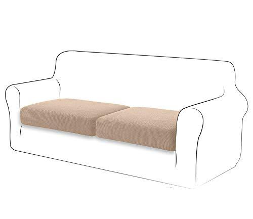 copri cuscini per divano TIANSHU Fodera per cuscino ad alta elasticità Cuscino per divano Fodera per mobili Protezione per divano Coprisedile per divano Fodere per cuscino a 2 fette pezzo per sedia (2 fette