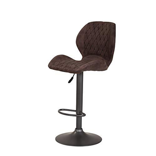 deine-tante-emma 920210 Sonja Vintage Braun Barhocker Sitzhocker Hocker Hochstuhl verstellbar Sitzschale und Lehne