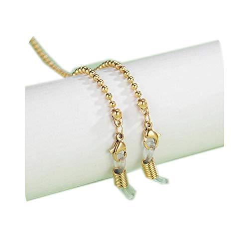 Cordón para gafas, cadena de acero inoxidable para mujer, diseño de cruz de corazón y cristales, cadenas, gafas de sol, cordón