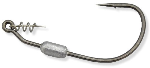 Owner's Weighted Twistlock Black Chrome Hook with Centering Pin (Size 3/0, 1/16Oz, 3 Per Pack)