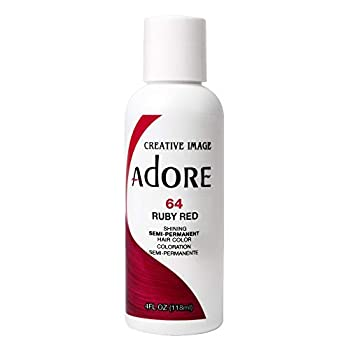 RINSE OUT SEMI-PERMANENT HAIR COLOUR RUBY RED 64  118ML by Adore