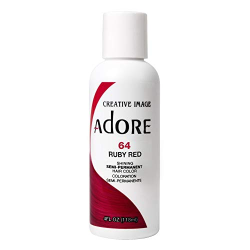 Price comparison product image RINSE OUT SEMI-PERMANENT HAIR COLOUR RUBY RED(64) 118ML by Adore