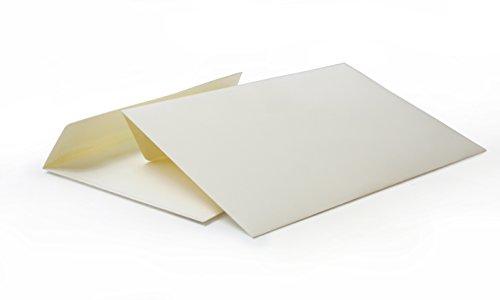 hochwertige Briefumschläge C6 114x162 mm (elfenbein) 120 g/m² ohne Fenster haftklebend (5120A) (100)