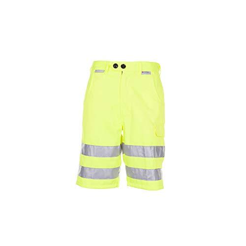 Planam 2014048 - Pantalones cortos de'alarma de protección contra el' tamaño m en amarillo