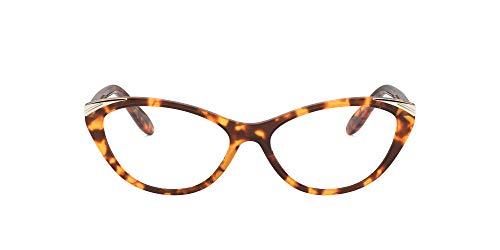 Ralph by Ralph Lauren Mujeres Ra7121 Gafas Graduadas Rectangulares, Lente marrón Havana, 53 mm